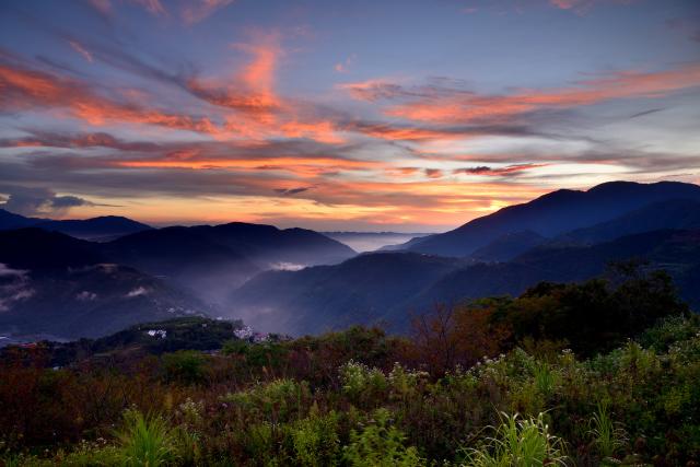 高原の夕暮れ