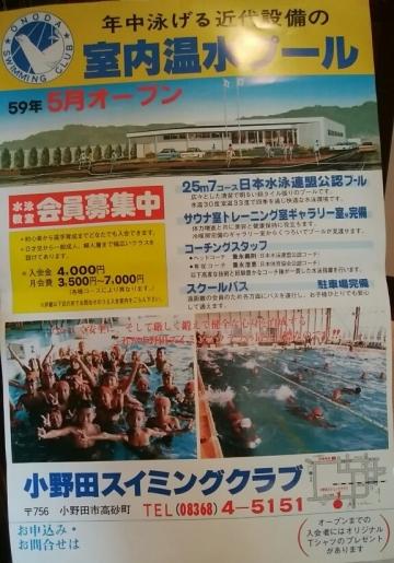小野田スイミング募集ポスター