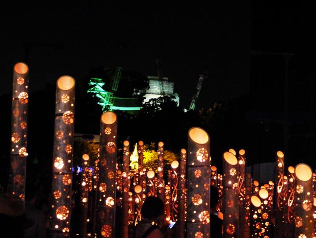 ②熊本城が見える