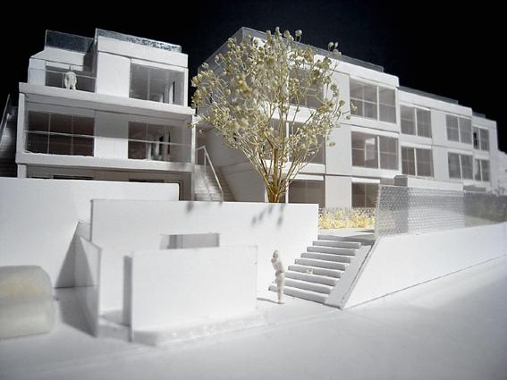 コーポラティブハウス模型Ent
