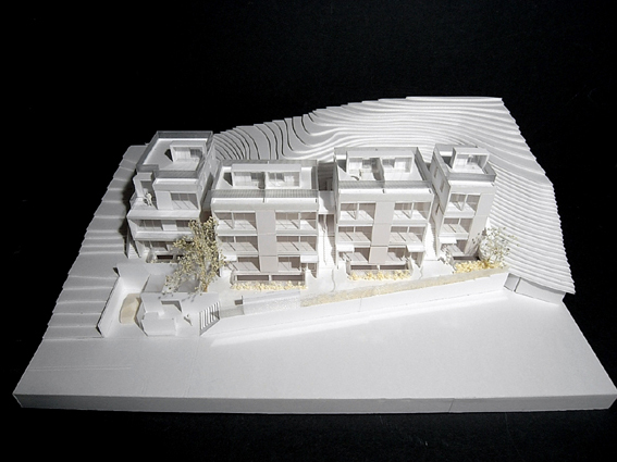 コーポラティブハウス模型上正面