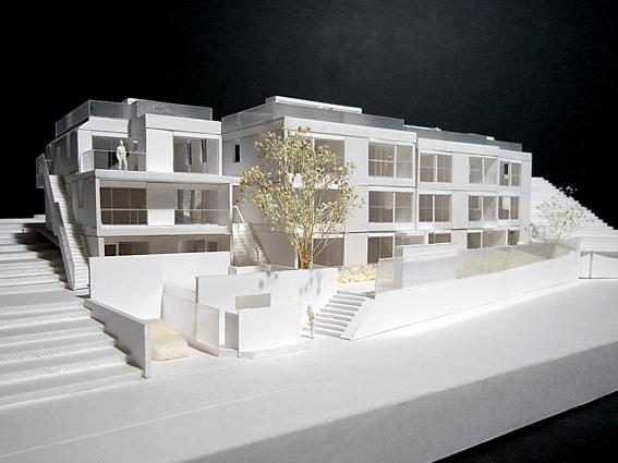 コーポラティブハウス模型西側