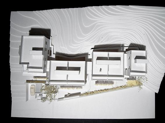 コーポラティブハウス模型俯瞰