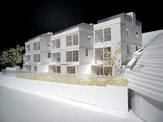 コーポラティブハウス模型東側