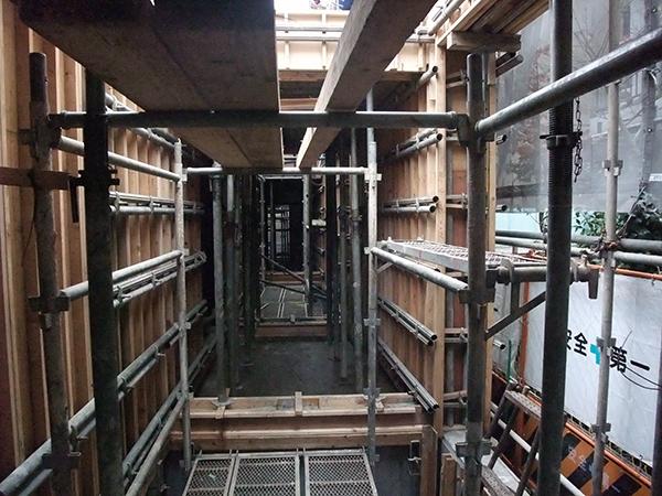 コーポラティブハウスと型枠工事6
