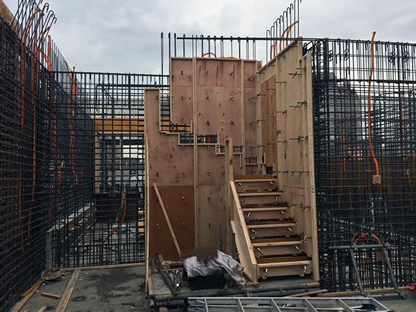 コーポラティブハウスと型枠工事2