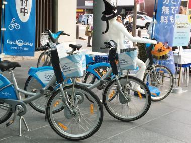 展示自転車チームとやましフェア