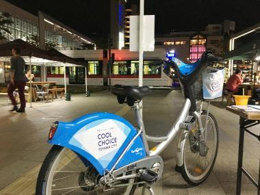 駅前サケバーにてクールチョイス自転車