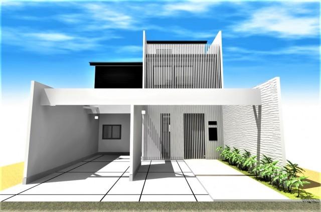 京都市北区,二世帯・和モダンの家,一級建築士事務所|3台駐車可能なビルトインガレージ、勾配天井、ルーフテラスのあるデザイナーズ注文住宅