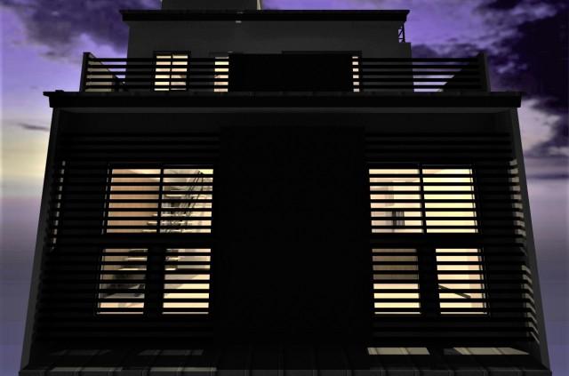 和モダン注文住宅,京都市中京区、デザイナーズ住宅,モダン住宅,狭小住宅,一級建築士事務所,重量鉄骨