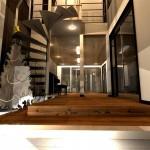 和モダン注文住宅,京都市北区,螺旋階段,ガレージハウス,無垢材,デザイナーズ住宅,モダン住宅