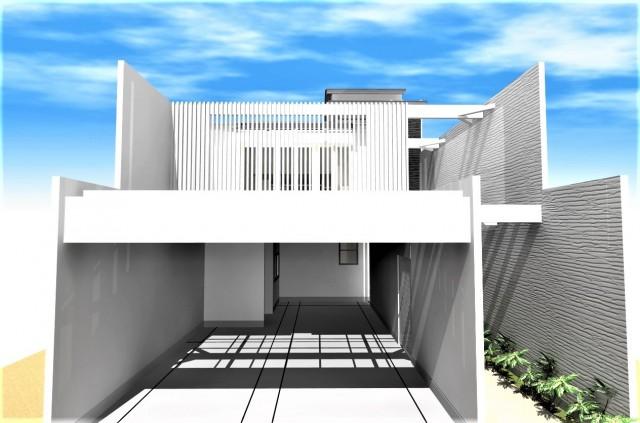 京都市北区,和モダン,デザイナーズ住宅,ガレージハウス,モダン住宅,設計,施工