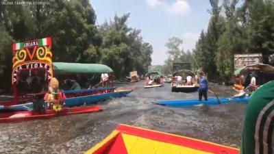 【衝撃!】川でボートに乗っている時に地震が来るとなす術がない!(メキシコ地震)