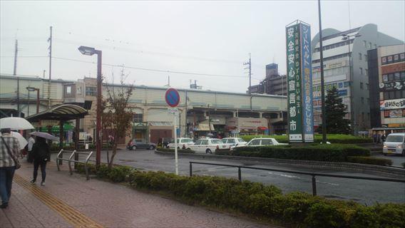 吉川駅到着