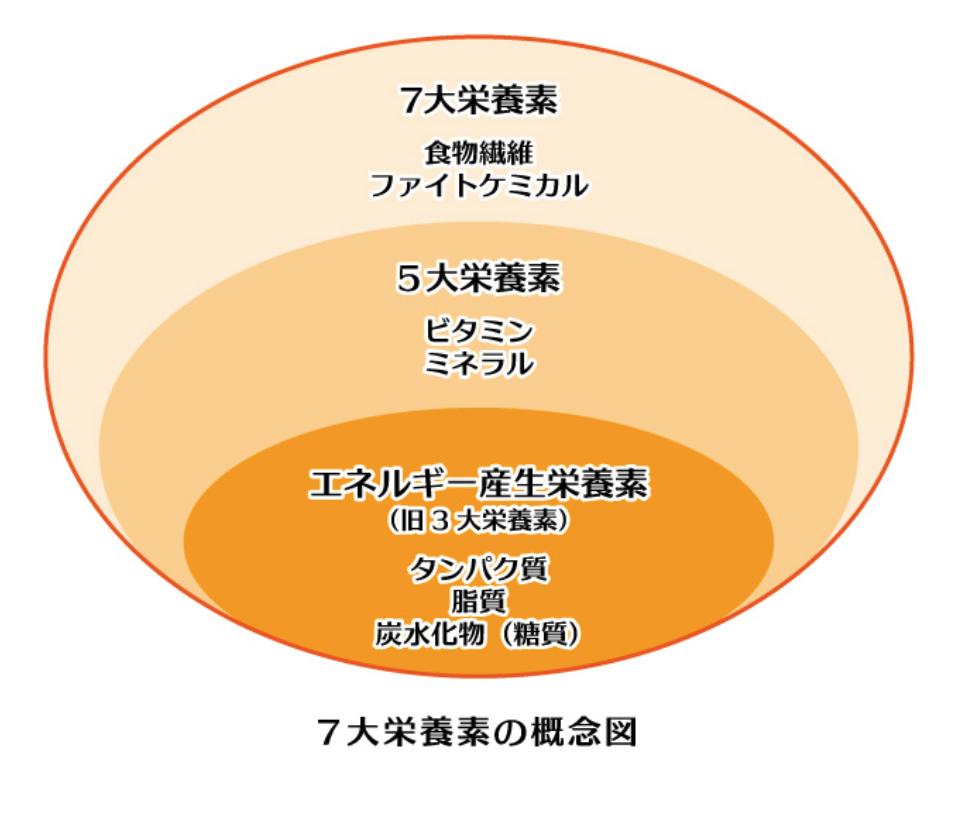 7大栄養素図