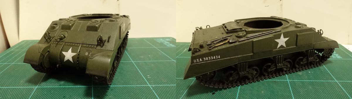 タミヤのミリタリーミニチュアシリーズ  No.190 アメリカ軍 M4シャーマン戦車初期型のプラモの写真 その1