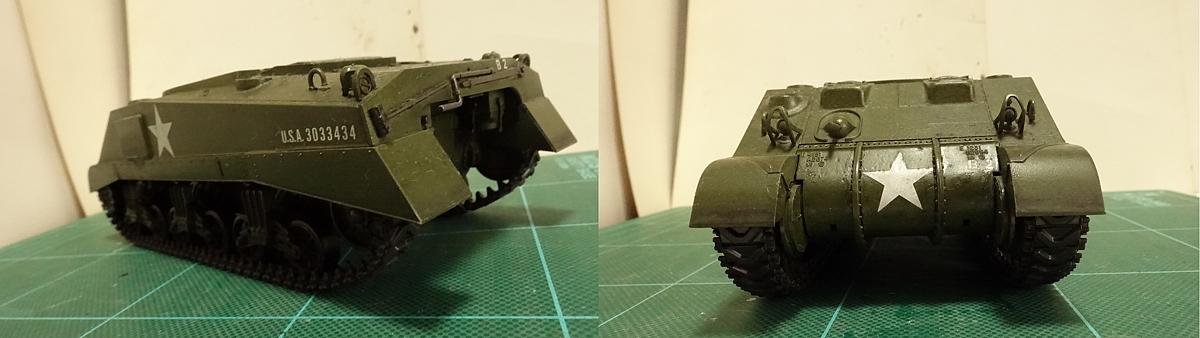タミヤのミリタリーミニチュアシリーズ  No.190 アメリカ軍 M4シャーマン戦車初期型のプラモの写真 その2