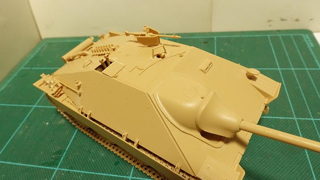 タミヤのミリタリーミニチュアシリーズ No.285 ドイツ駆逐戦車 ヘッツアー 中期生産型 その3