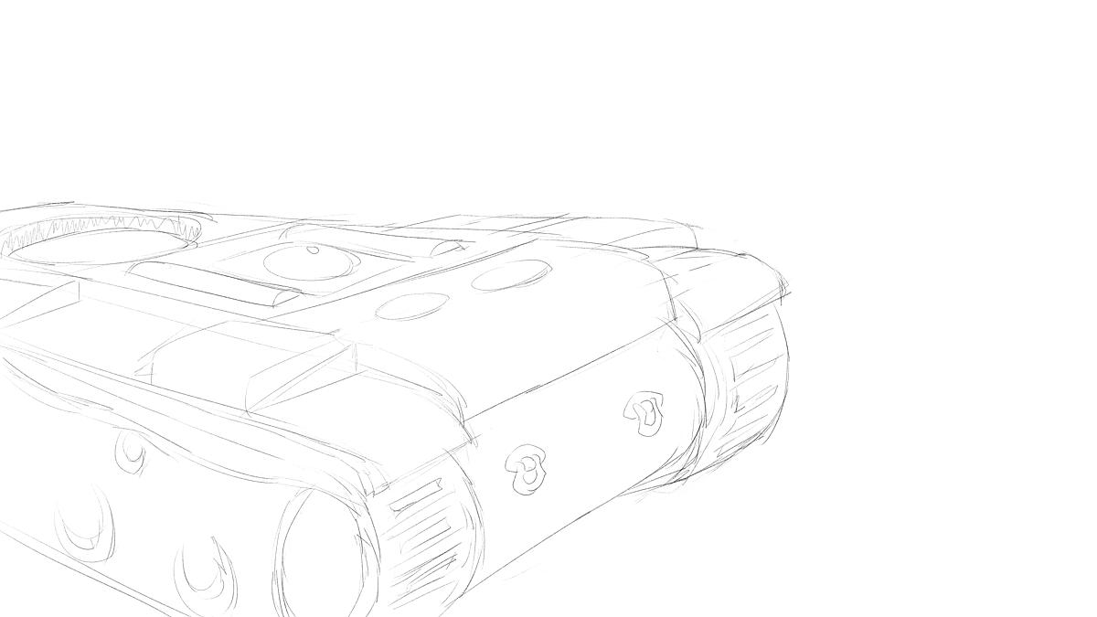 KV-1B戦車をイメージから描く その2