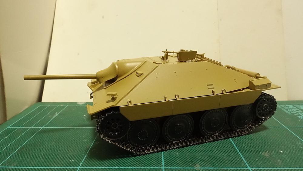 タミヤのミリタリーミニチュアシリーズ No.285 ドイツ駆逐戦車 ヘッツアー 中期生産型 その1