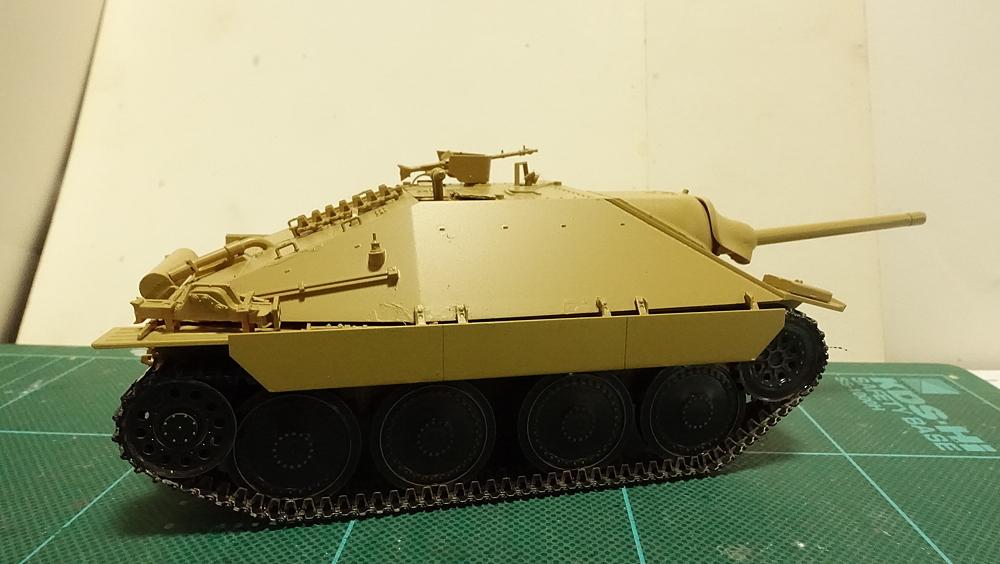 タミヤのミリタリーミニチュアシリーズ No.285 ドイツ駆逐戦車 ヘッツアー 中期生産型 その2