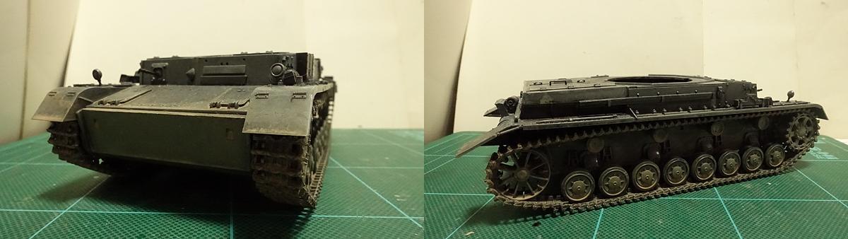 4号戦車短砲身型のプラモの写真