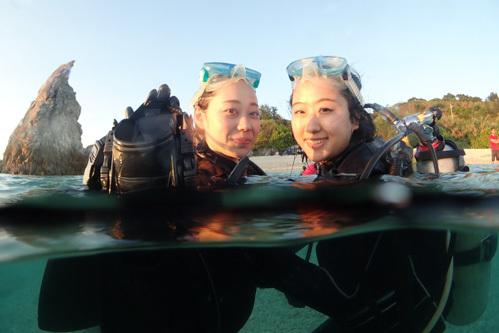 ギャルと体験ダイビング