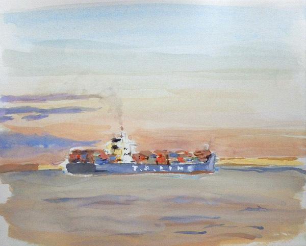 東京湾をゆく船-24