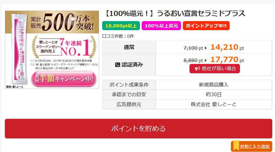 Screenshot-2017-10-15 【100%還元!】うるおい宣言セラミドプラス 詳細と口コミ - i2i ポイント
