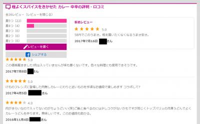 58円カレー レビュー