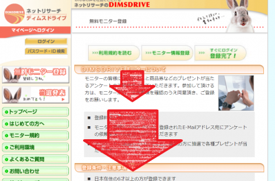DIMSDRIVE(ディムスドライブ) 新規登録