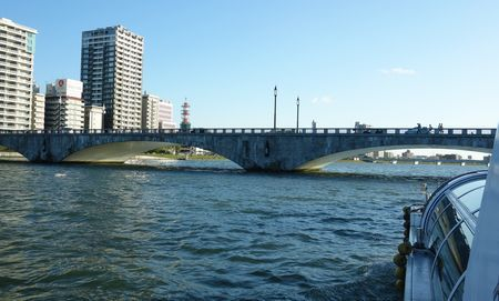 信濃川のクルーズ 萬代橋