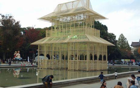 噴水前広場の造形物