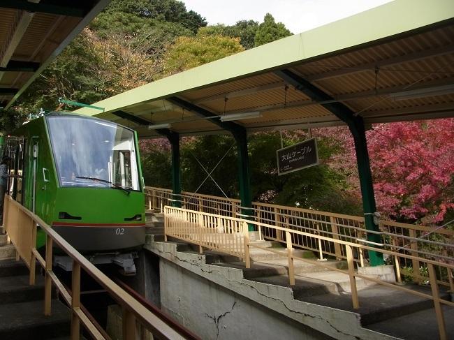 20171115大山ケーブル駅とケーブルカー