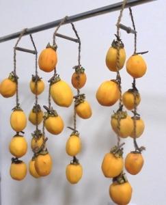 吊るし柿作ってみました