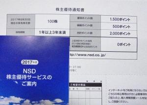 NSD株主優待2017