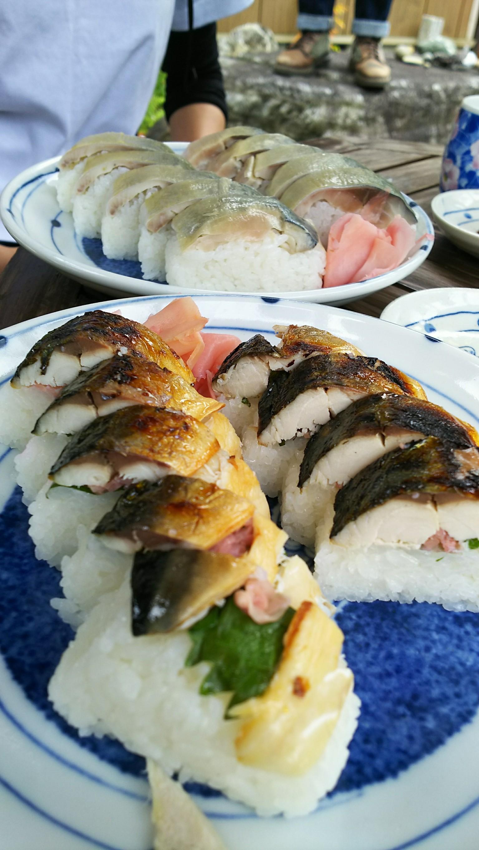 秋やで鯖街道ツーリング_焼き鯖寿司