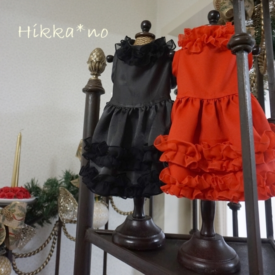 赤と黒のドレス