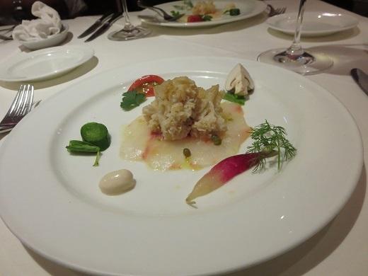 キノコと白身魚のカルパッチョ