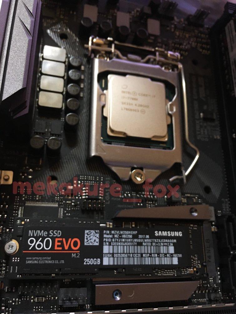 Samsung SSD 250GB 960 EVO M.2 簡易レビュー
