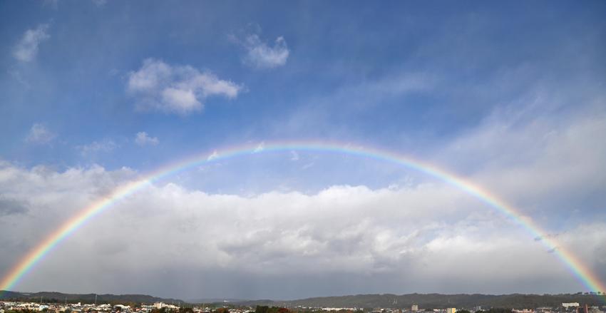 20171030A朝の虹