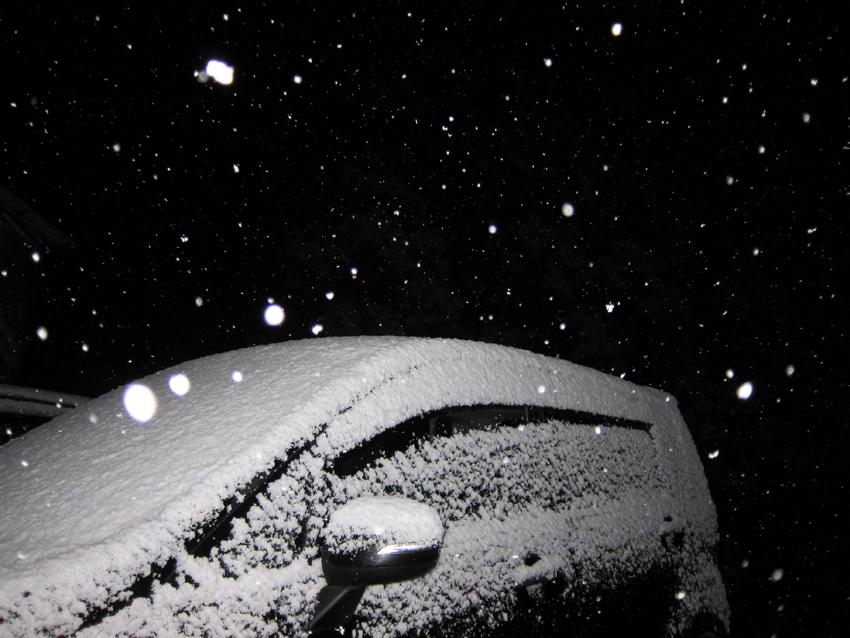 20171119夜の本降りの雪