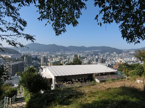 登ってきました。 十字架山からの眺め。