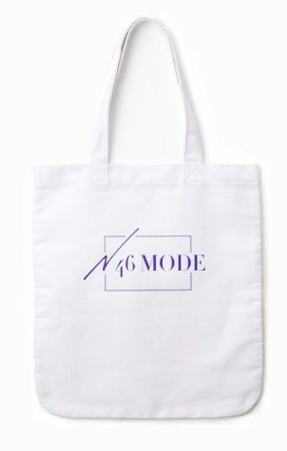 N46MODE vol.0 オリジナルロゴ入りA4キャンバストートバッグ