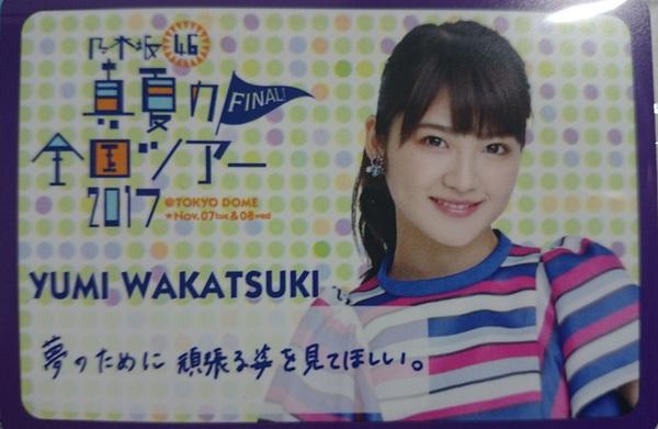 乃木坂46 東京ドーム公演公式グッズのメッセージカード 若月佑美