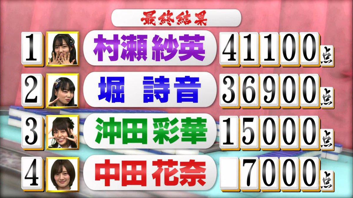 トップ目とったんで 中田花奈