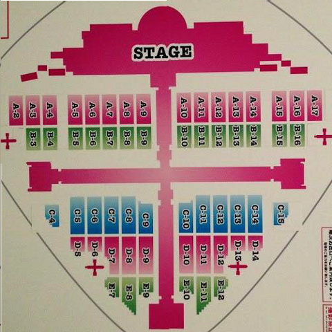 AKB48東京ドーム公演のステージ配置