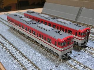 パーツ取付後の「TOMIX キハ47-500形(新潟色・赤)セット」