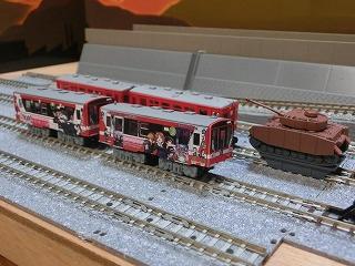 組立終った「Bトレ 鹿島臨海鉄道」ガルパンラッピング