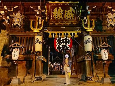 夜の櫛田神社2
